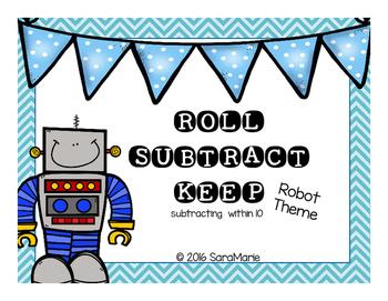 Roll Subtract Keep (Robot Theme)
