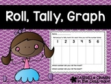 Roll Tally Graph Math Station Game with Dice