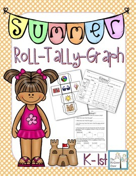 Summer Roll Tally Graph Math Activity Center Set