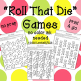 Roll That Die {open ended games for speech therapy or classroom use}