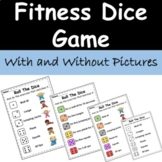 Roll The Dice Exercise Fitness Game - Physical Education -
