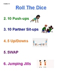 Roll The Dice Fitness Activity, grades 3-5
