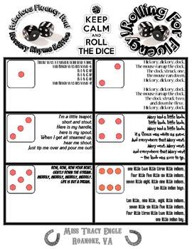 Roll The Dice: Nursery Rhyme Fluency Game