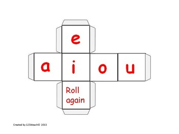 Roll The Word Real/ Nonsense Words CVC and CCVC