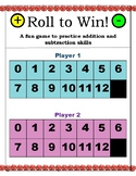 Roll To Win! Addition and Subtraction fun maths partner game