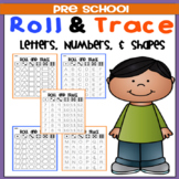 Roll & Trace (Letters, Numbers, & Shapes)