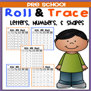 roll trace letters numbers
