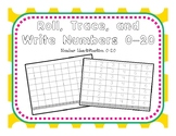 Roll, Trace, and Write Numbers 0-20