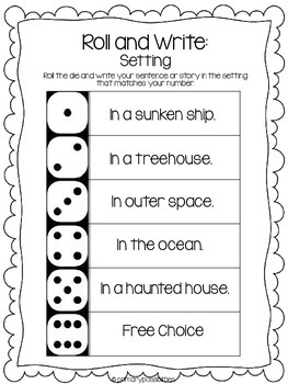 Roll With It Word Work and Story Starters