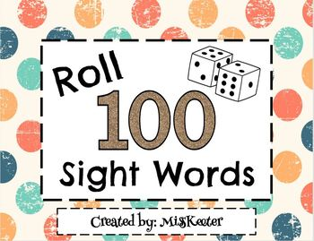 Roll & Write 100 Sight Words Bundle