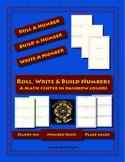 Roll,Write & Build A Number Math Center