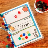 Roll, Write, Count Math Game