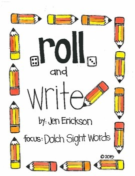 Roll & Write: Dolch Sight Words