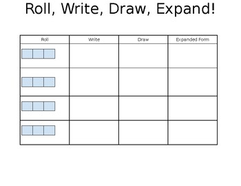 Roll, Write, Draw, Expand!