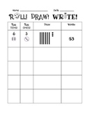 Roll! Write! Draw! Place Value