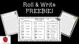 Roll & Write FREEBIE