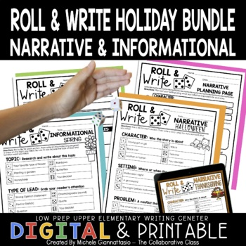Roll & Write: Narrative & Informational Writing Activities {Growing Bundle}