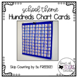 SAMPLE - Hundreds Chart Cards {School Theme} Skip Count by 5s