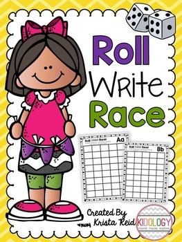 Roll Write Race - Alphabet Printables