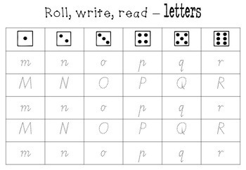 Roll Write Read letters and words Victorian Modern Cursive