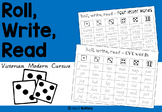 Letters and Words worksheets - roll write and read