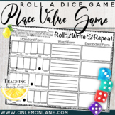 Roll Write Repeat {Place Value Dice Game} Decimal Expanded Form
