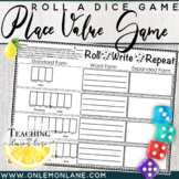 Roll Write Repeat {Place Value Through Millions Dice Game} Expanded Form