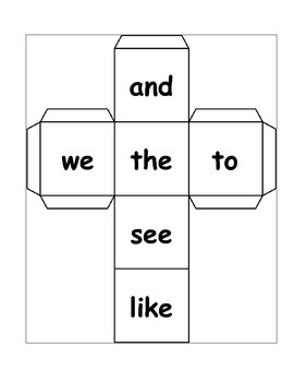 Roll & Write Sight Words