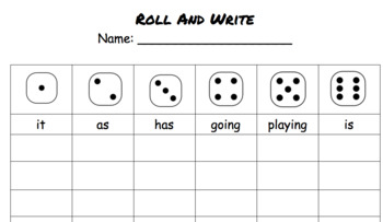 Roll & Write Sight Words - Daily 5