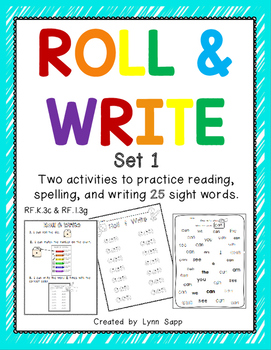 Roll & Write Sight Words Set 1