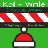 Roll + Write | Story Starters | Writing Prompts | Christmas Version