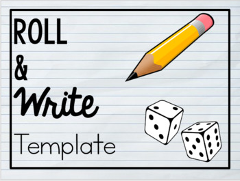 Roll & Write Template