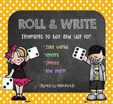 Roll & Write Templates [EDITABLE!]