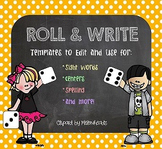 Roll & Write Templates [EDITABLE!]
