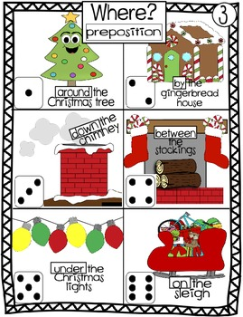 Roll, Write and Illustrate Silly Christmas Sentences