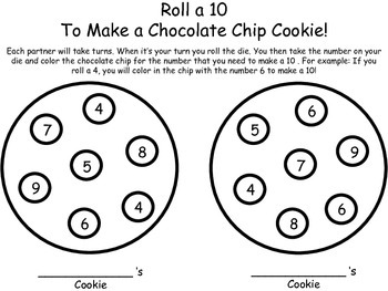 Roll a 10 Cookie Game