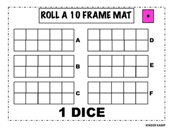 Roll a 10 Frame Math Center and Worksheets