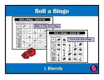Roll a BINGO L BLENDS, SPEECH THERAPY, Articulation