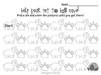 Roll-a-Bear Math Game