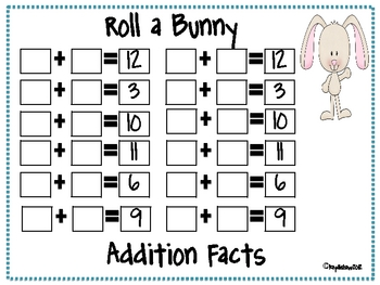 Roll a Bunny or Chick