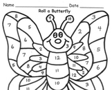 Roll a Butterfly Addition Practice to 12