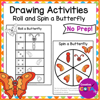 Roll a Butterfly Draw or cut and paste