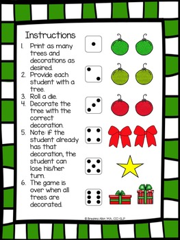 Roll a Christmas Tree Freebie