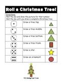 Roll a Christmas Tree Math Fun! (Christmas}