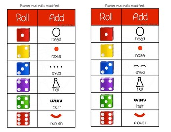 Roll a Clown Face Dice Game