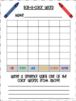 Roll-a-Color Word