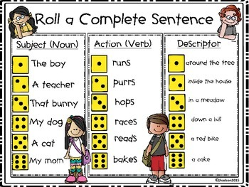 Roll a Complete Sentence