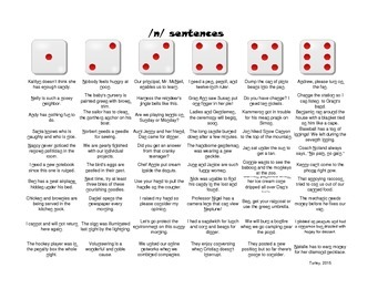 Roll-a-Dice Artic: /n/ and /l/ in words, phrases, and sentences