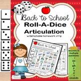Roll-a-Dice BACK TO SCHOOL Artic: NO PREP Worksheets w/ Detachable Homework!