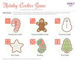 Holiday Cookie Plate Roll the Dice Game: A Speech Therapy